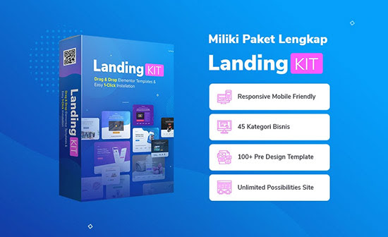 Landingkit Template Landing Page Elementor Siap Pakai