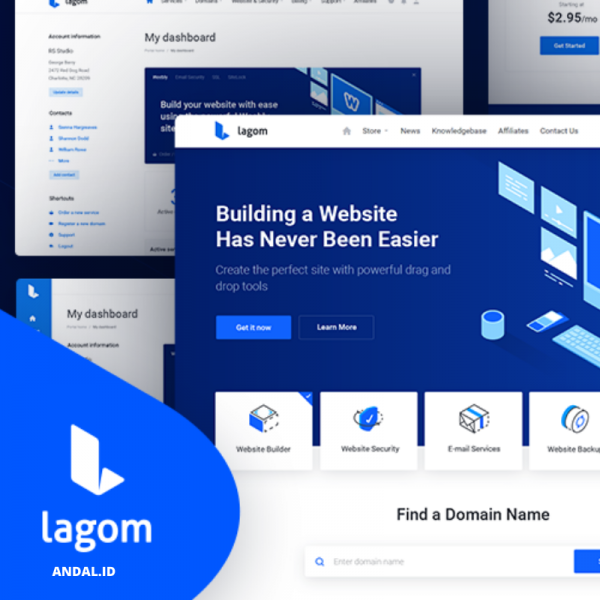 Lagom Whmcs Theme – Simple and Intuitive Whmcs Template
