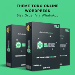 Theme Toko wordpress bisa order bisa whatsapp