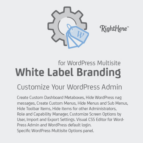 White Label Branding Admin for WordPress Multisite